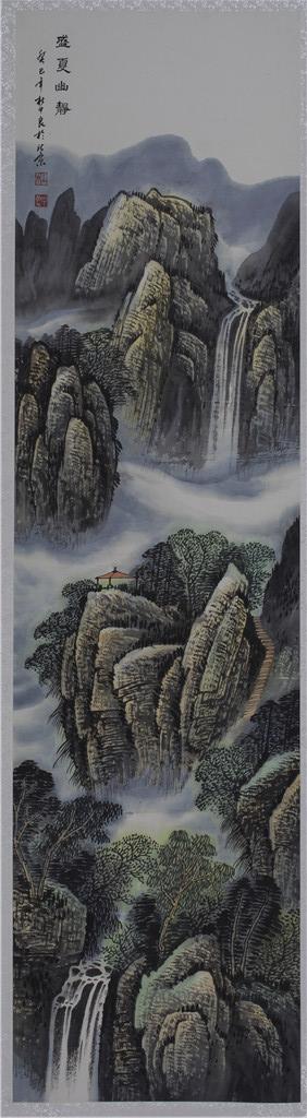 盛夏幽静 - 国画作品 - 杜中良-国画,艺术,山水 -官方网站