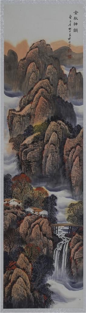 金秋神韵 - 国画作品 - 杜中良-国画,艺术,山水 -官方网站