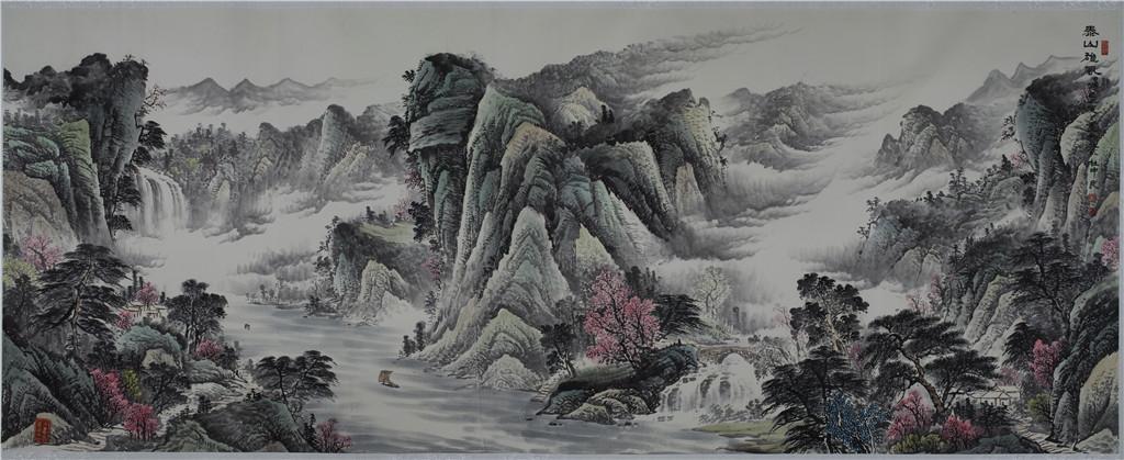泰山雄风 - 国画作品 - 杜中良-国画,艺术,山水 -官方网站